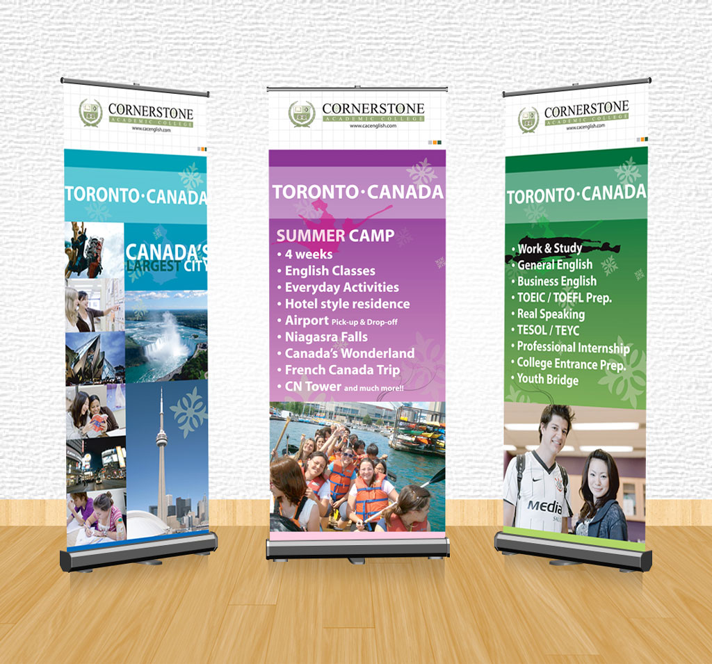 Stand Up Banner Designs : Design banner homestay homemade ftempo
